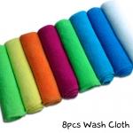 8pcs-Wash-Cloth-Plain