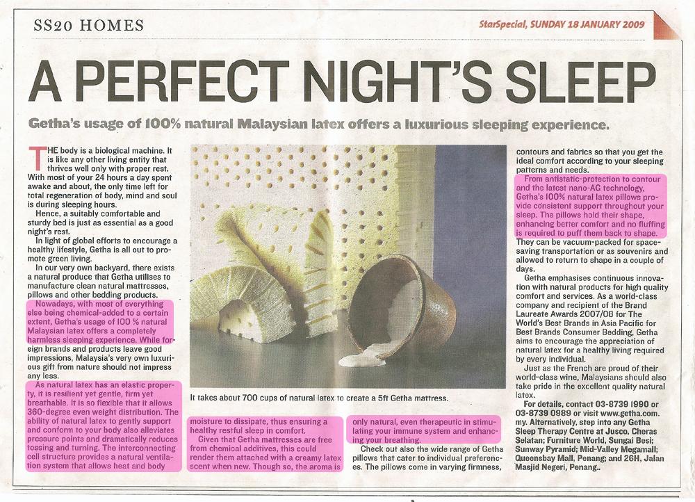 Getha Newspaper Article